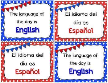 dual language   day signs lod english  spanish tpt