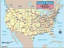 United States Time Zones & Interstate Highways Map by Maps ...