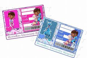 dr name tag template - 10 best images of doc mcstuffins name tag doc mcstuffins
