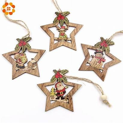 Christmas Star Wooden Ornament Crafts Diy Wood