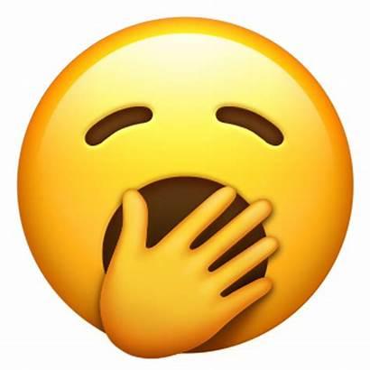 Emoji Face Apple Smiley Yawning Really Yawn