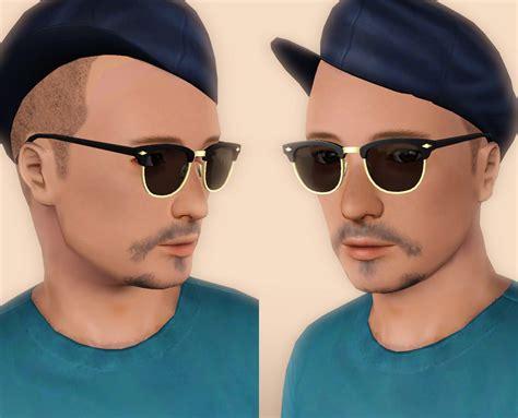 Mod The Sims Simlish Clubmaster Eyeglasses