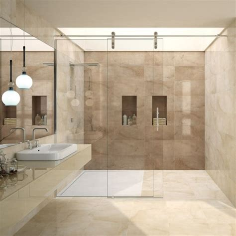 Bathroom Tile Feature Ideas by Lovely Range Of Brown And Wall Tiles In A Large