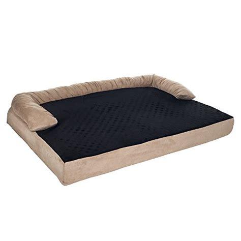 orthopedic memory foam bed petmaker orthopedic memory foam pet bed with bolster