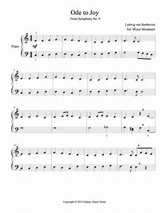 Ode To Joy Easy Piano Sheet Music Galaxy Music Notes