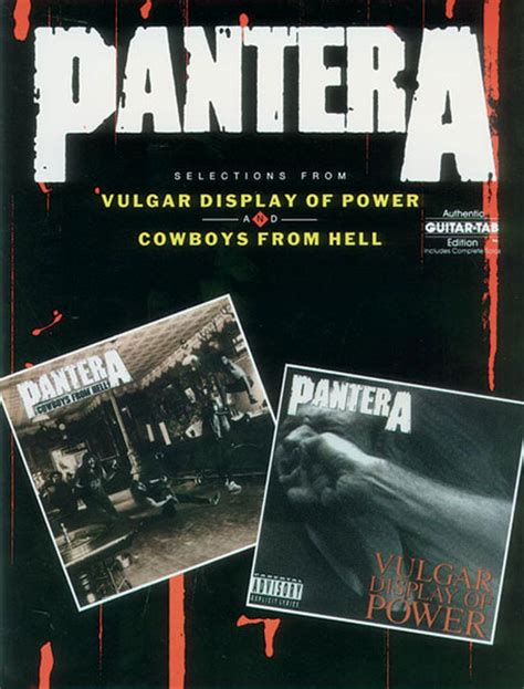 Pantera Shedding Skin Bass Tab by Buy Pantera Tablature Books