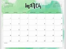 March 2018 Calendar Printable Cute larissanaestradacom