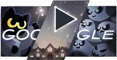 Cat Academy Magic Halloween Google Saving Doodle