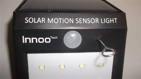 innoo tech solar powered led motion sensor light testing