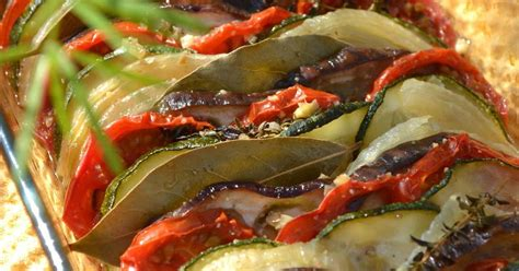 recette tian daubergines courgettes  tomates