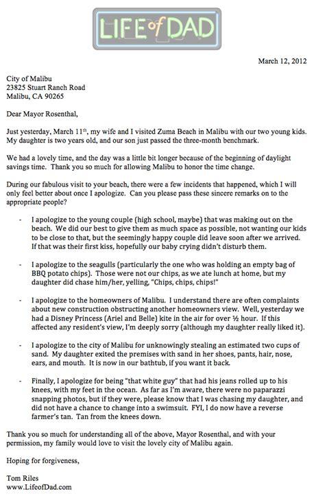malibu  apology letter  malibus mayor