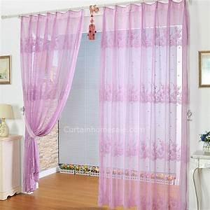 Rideau Dentelle Romantique : romantique violet rideau dentelle simple rideau d coratif ~ Teatrodelosmanantiales.com Idées de Décoration