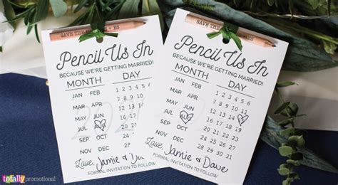 "Free printable save the dates for savvy brides ""Pencil"