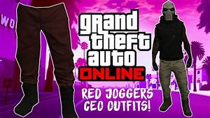 GTA 5 Online *Red Joggers* u0026 *CEO Outfit* 1.40 - YouTube