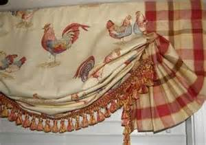 custom french country balloon valance curtain red gold