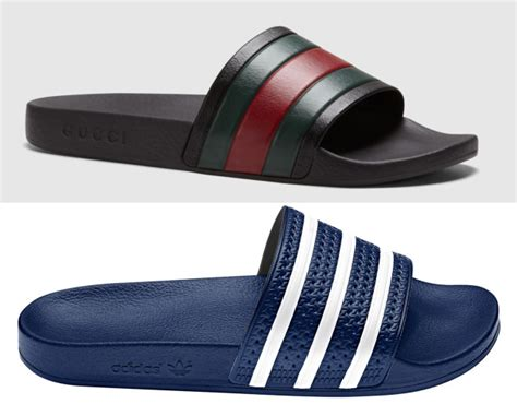is this gucci flip flop just a rip off of the adidas