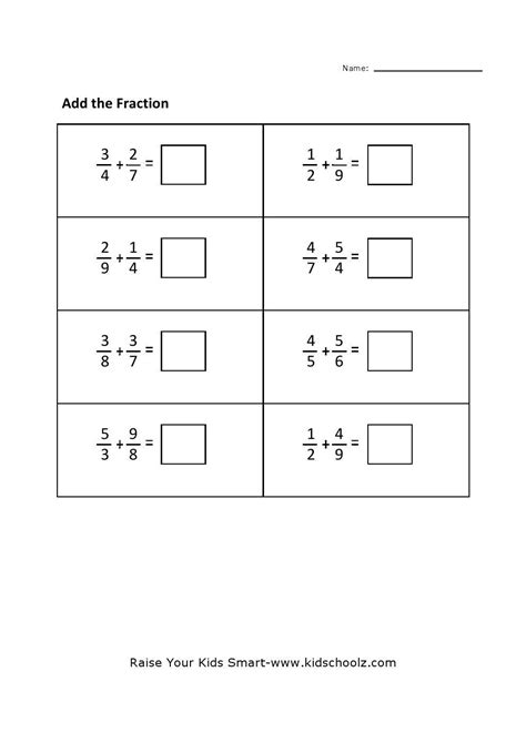 3rd grade math worksheet adding fractions free fraction worksheets worksheet mogenk paper works