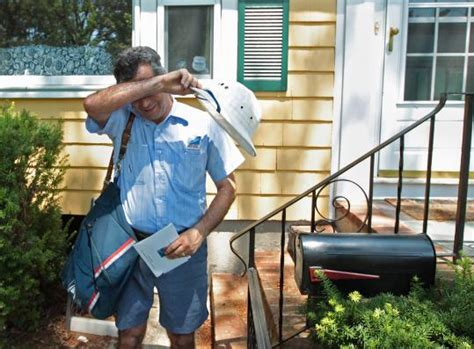 thanks mail carrier warming up mail carrier proves he can take the heat the boston globe