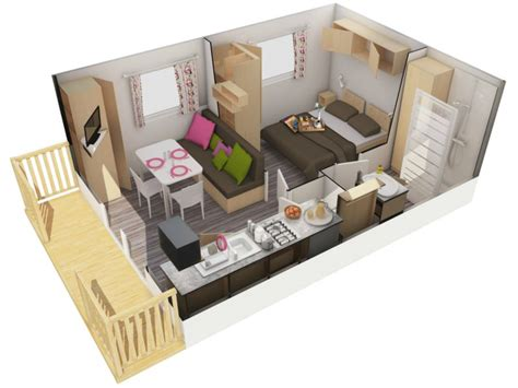 mobil home 1 chambre rental mobile home 1 bedroom 2 pers camping l 39 oree de