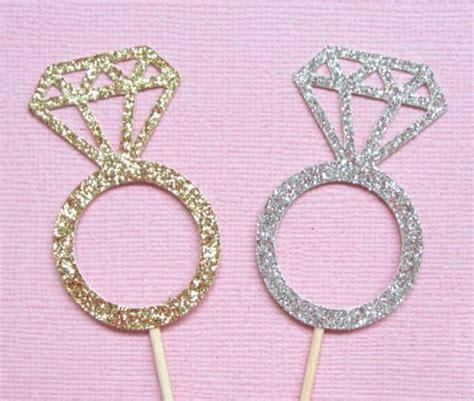 wedding ring cupcake toppers ring cupcake