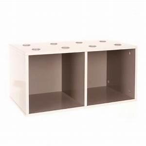 Meuble De Rangement Cube : meuble de rangement empilable 2 cubes abc taupe ~ Teatrodelosmanantiales.com Idées de Décoration