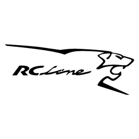 Peugeot Decals by Peugeot Rc Line Logo Decal