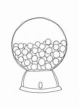 Gumball Machine Coloring Pages Printable Bubble Template Round Empty Outline Cartoon Getcolorings Ma Templates Popular Monkey sketch template