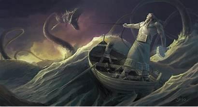 Mythology Vikings Painting Rooster Riding Pemikiran Semula