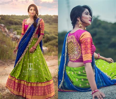 your official guide to find best half saree blouse designs keep me stylish
