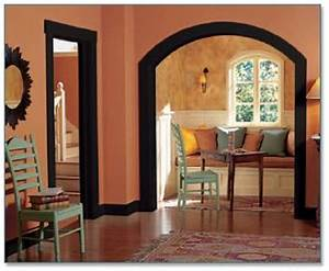 23 best images about decorating with dark wood trim on for Ideas for interior trim colors