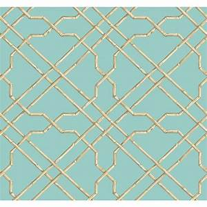 York Wallcoverings Ashford House Tropics Aqua and Beige ...
