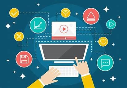 Marketing Icon Flat Technology Graphics Workplace Seo
