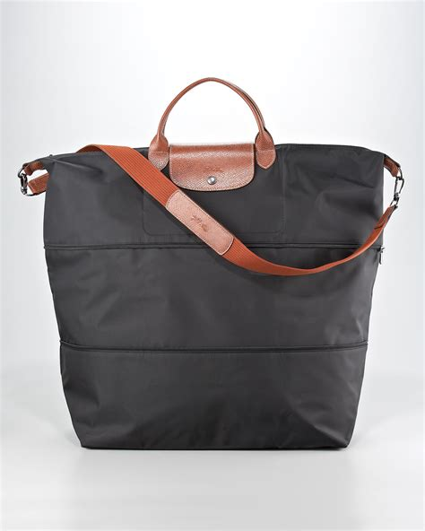 longchamp le pliage expandable travel monogram bag