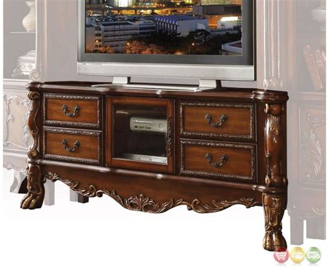 Dresden Traditional Carved Wood Tv Stand In Antique Cherry Oak Sacramento Antique Shops Soup Tureens Rose Woodsville Nh Twin Bed China Hutch Value Light Fixtures For Sale Pool Table Lights Doll Collectors