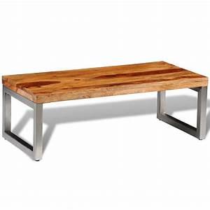 Table Basse En Solde : acheter table basse en bois sheesham solide avec pieds en ~ Teatrodelosmanantiales.com Idées de Décoration