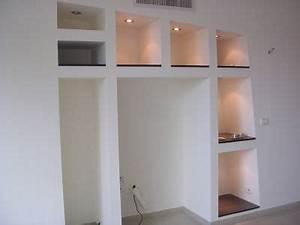 creation bibliotheque meuble en placoplatre placo platre With bibliotheque en carreau de platre