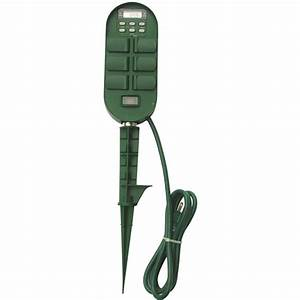 Shop Utilitech 15-Amp 6-Outlet Digital Residential Plug-in ...