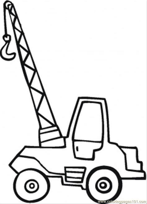 crane coloring page coloring page  land transport coloring pages coloringpagescom