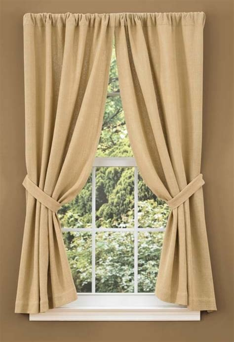 burlap curtain panels burlap curtains for the home