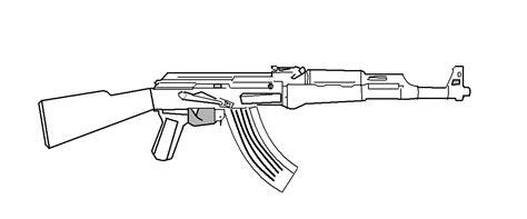 Ak-47 Line Art By Gmodmike On Deviantart