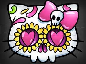 Hello Kitty Sugar Skull Drawings
