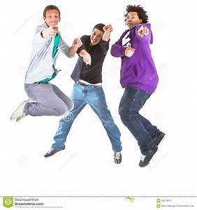 Teenagers Jumping In Joy Stock Photos - Image: 22674873