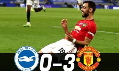 SPORTS VIDEO: Brighton & Hove Albion vs Manchester United ...