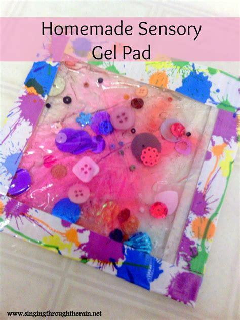 homemade sensory gel pad singing   rain