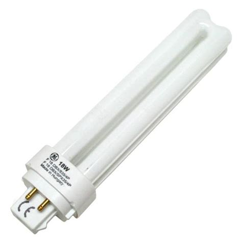 ge fluorescent light bulbs ge 97600 f18dbx 835 eco4p double tube 4 pin base compact