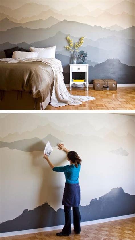 bedroom wall painting ideas 34 cool ways to paint walls diy projects for Diy