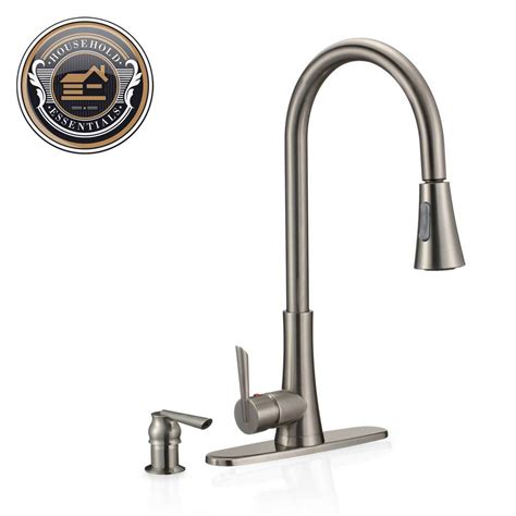 Kitchen Faucet Sprayer by 19 Quot Brushed Nickel Pull Kitchen Faucet With Sprayer