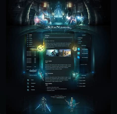 website templates fantasy high fantasy template
