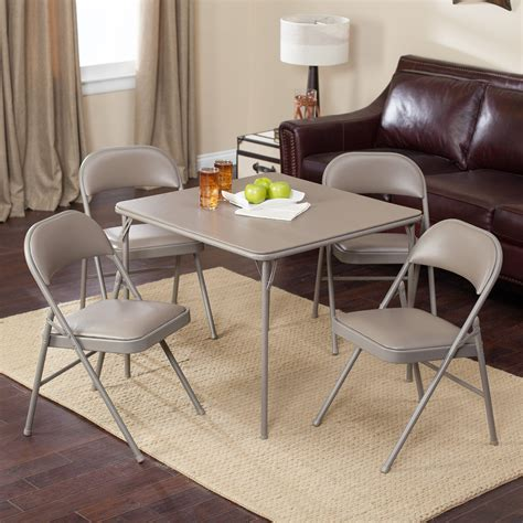 card table chairs set meco sudden comfort deluxe double padded chair and back