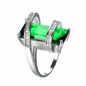 Geometric Emerald May Birthstone Ring - BlazeMall